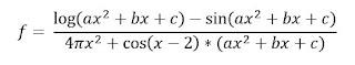 fungsi persamaan logaritma