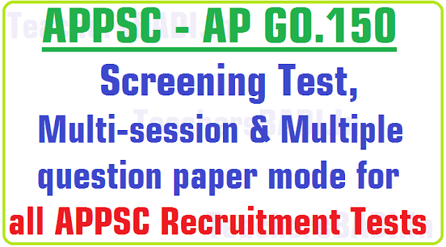Screening Test,Multi-session-Multiple question paper mode, APPSC Recruitments