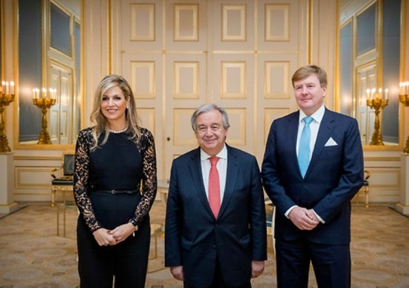 King Willem-Alexander and Queen Máxima gave a dinner at Noordeinde Palace in honour of António Guterres