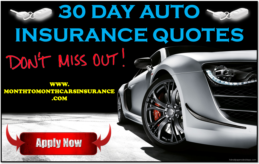 Best 30 day auto insurance with no deposit online