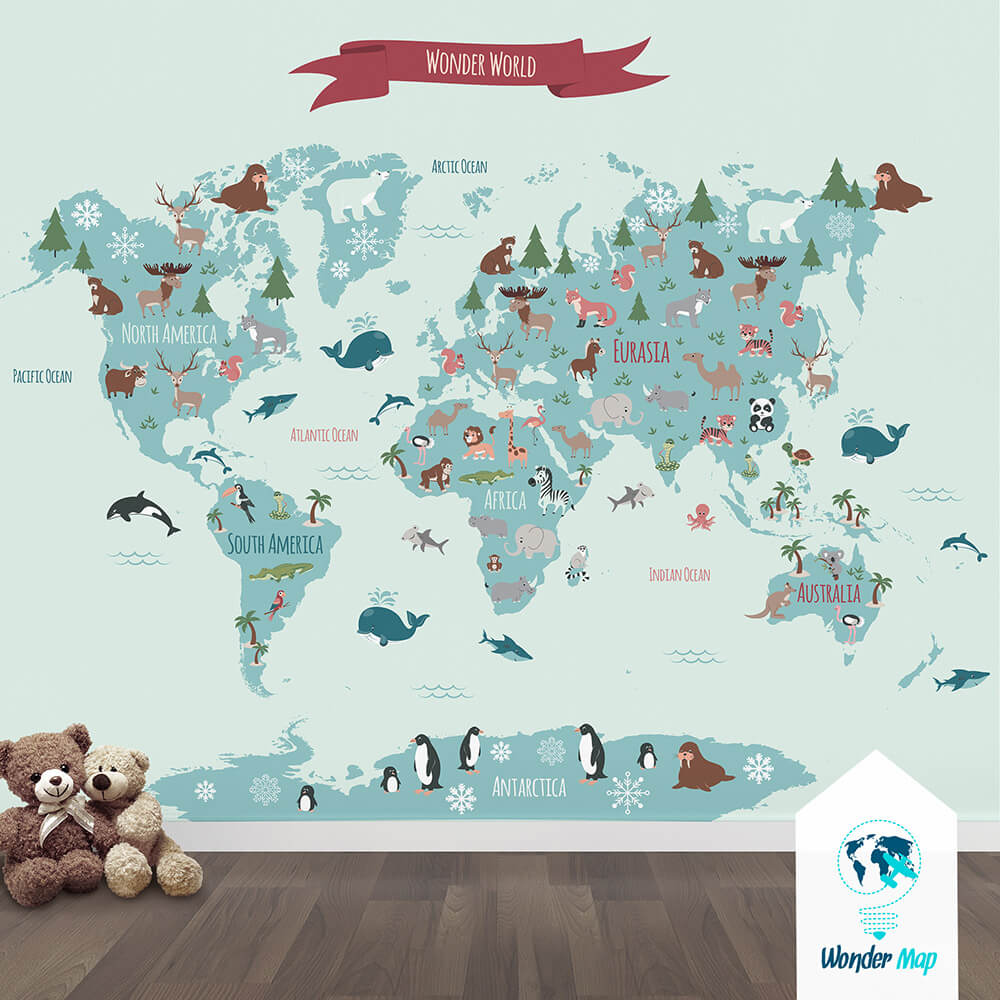 Amazing creative map for kids room | Wonder_Map | by Natalia Kolodiazhna