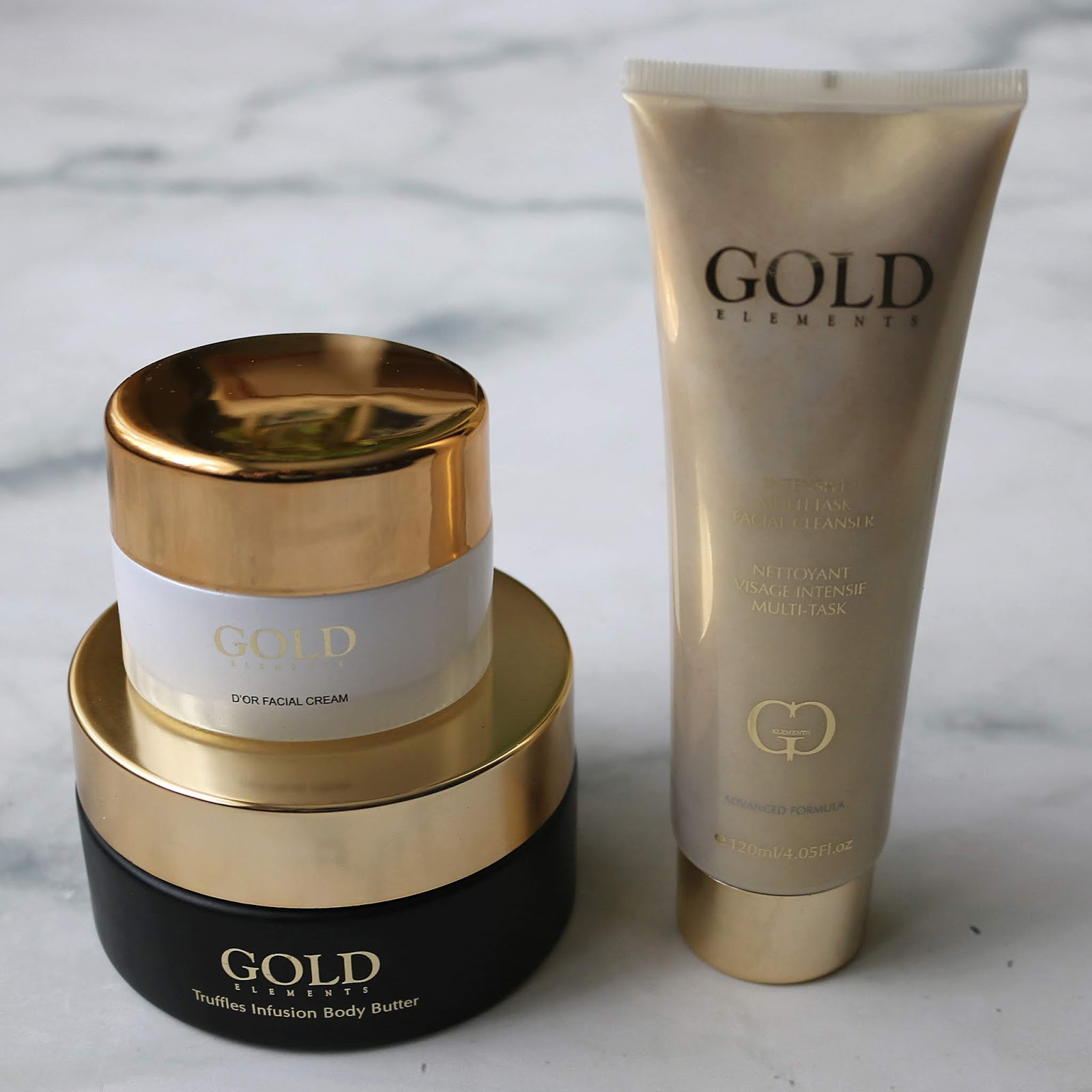 Gold Elements Intensive Multi Task Facial Cleanser D'Or Facial Cream Truffle Infusion Body Butter