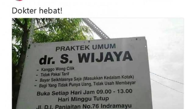 Nama dokter S Wijaya menjadi viral usai dibagikan oleh akun twitter fotografer ternama, @arbainrambey pada 18 November lalu.