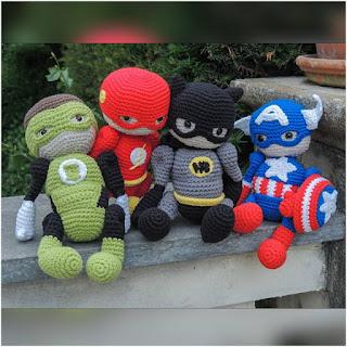 patron amigurumi Superhéroes de Marvel luligumis