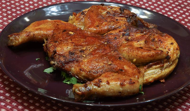 Курица табака на сковороде рецепт с фото