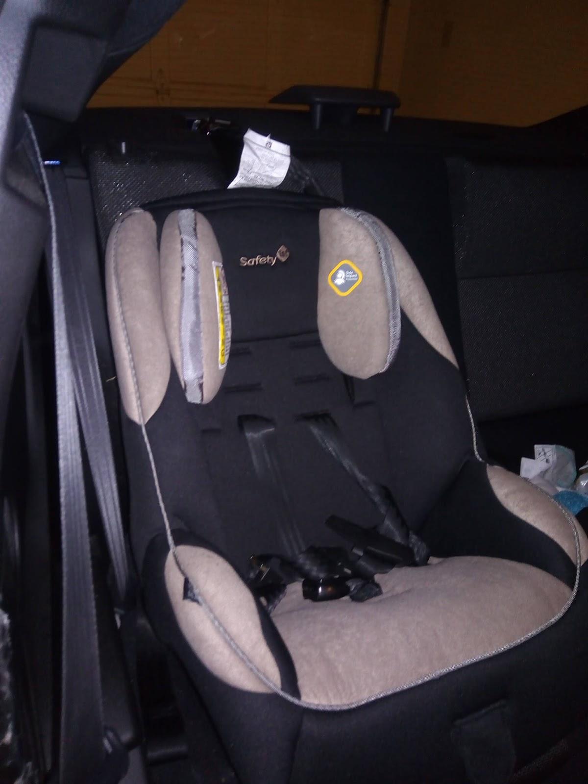 car seat in a sports car