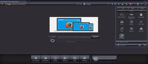 Tampilan Full screen