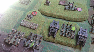 British infantry and tanks prepare their assaults