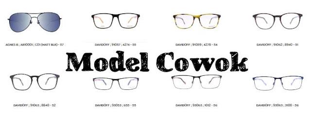 jenis atau frame kacamata pria di optik tunggal