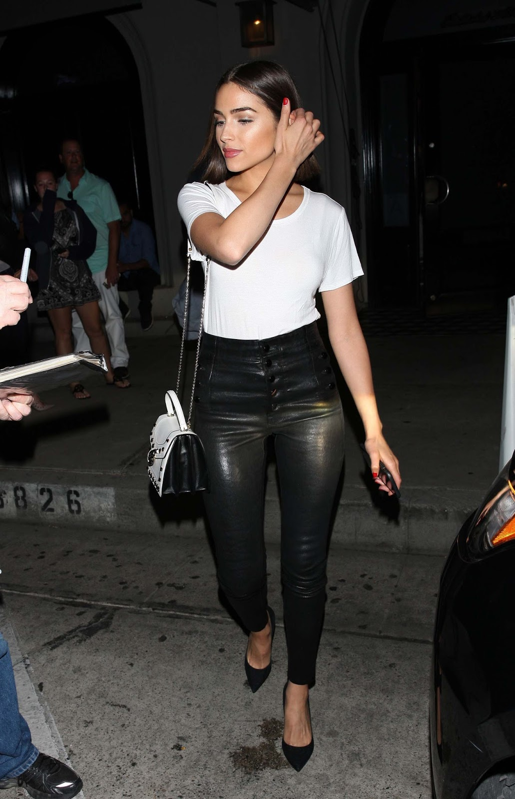 Lovely Ladies In Leather Olivia Culpo In Leather Pants-7446