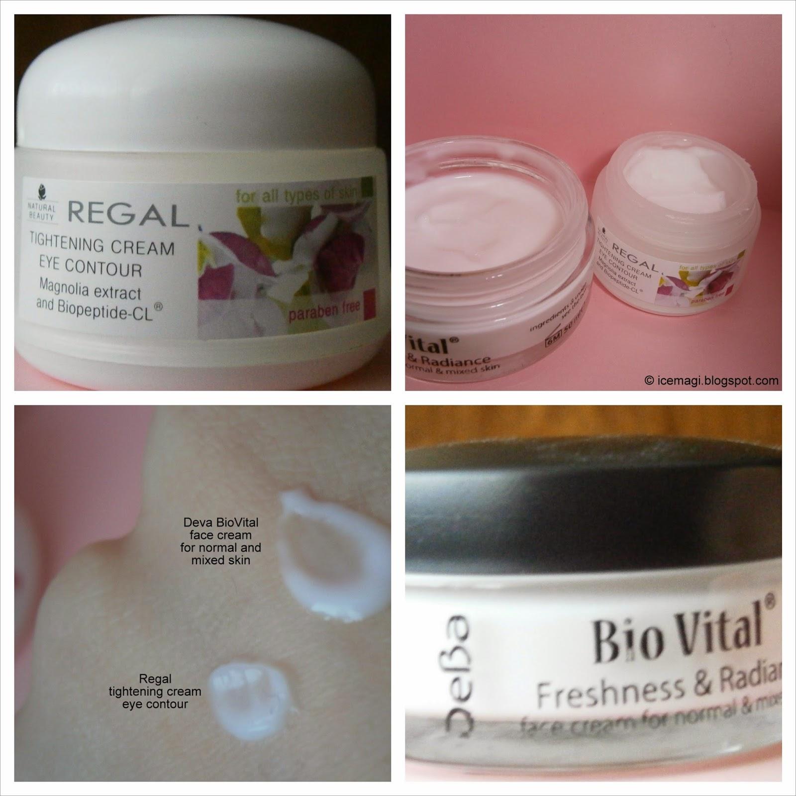 Дева БиоВитал крем за лице | Регал стягащ околоочен крем