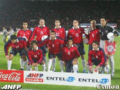 Formación de Chile ante Colombia, Clasificatorias Alemania 2006, 5 de septiembre de 2004