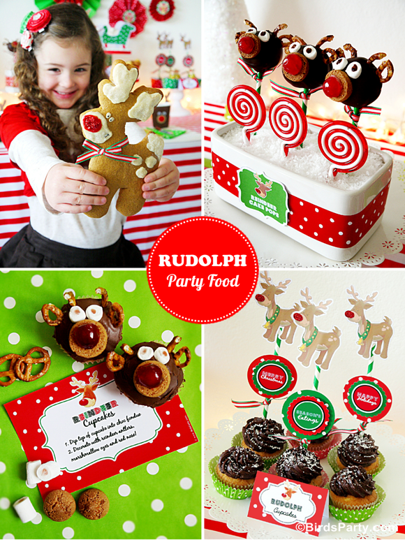 Rudolph Holiday Party | Cute Food Recipes for Kids  - BirdsParty.com
