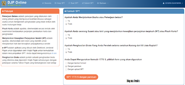 Tampilan Laman DJP Online - Blog Mas Hendra