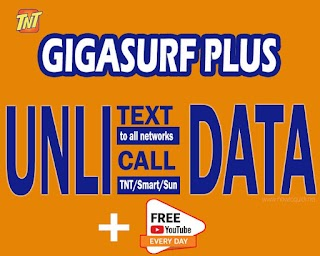 TNT GIGASURF Plus 75, 149, 449, 749 and 999 – Unli Call, All-net Text + Data
