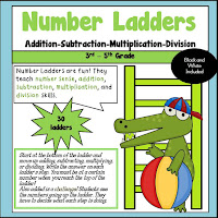 Number Ladders using Multiplication Division Addition and Subtraction