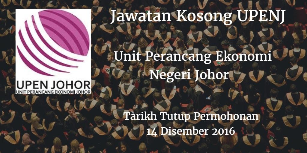 Jawatan Kosong UPENJ 14 Disember 2016