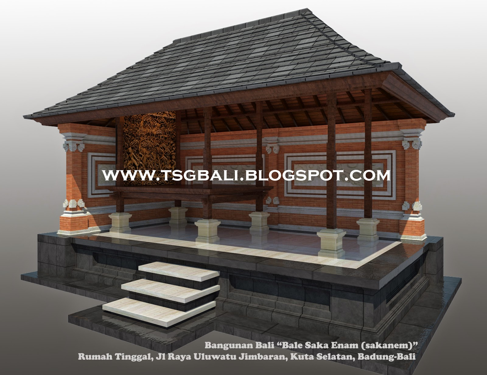 Desain Rumah Bale Bali : Bangunan Sakanem I Arsitektur