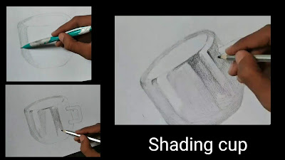 How to shade cup,Drawing realistic steel cup drawing, how to draw cup, step by step tutorial of Cup , easy drawing for begginers, drawings for kids, graphite pencils drawing