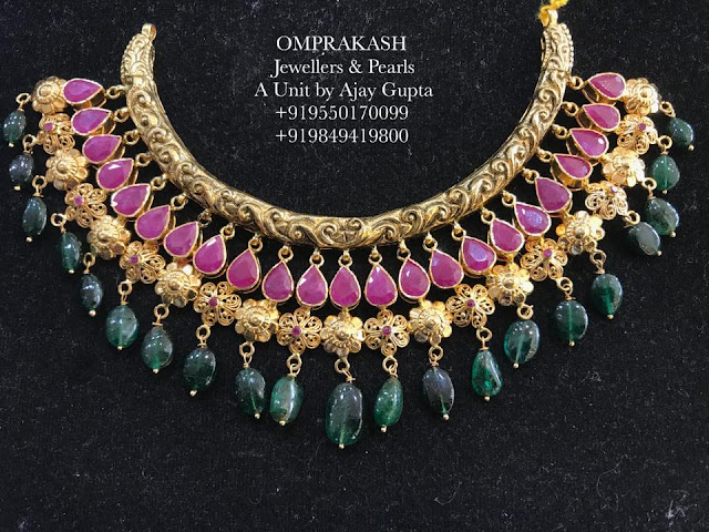 Ruby Emerald Set by Omprakash Jewellers