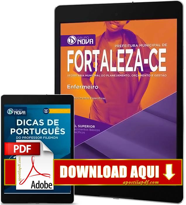 Apostila Prefeitura de Fortaleza 2016 PDF Download Enfermeiro