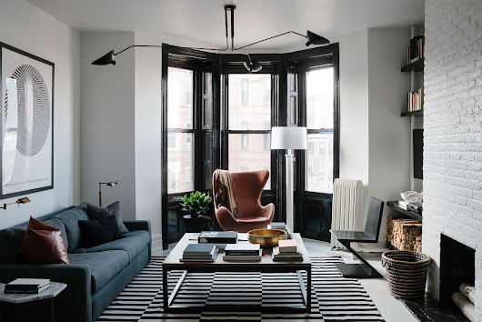 Masculine Black and White Apartment