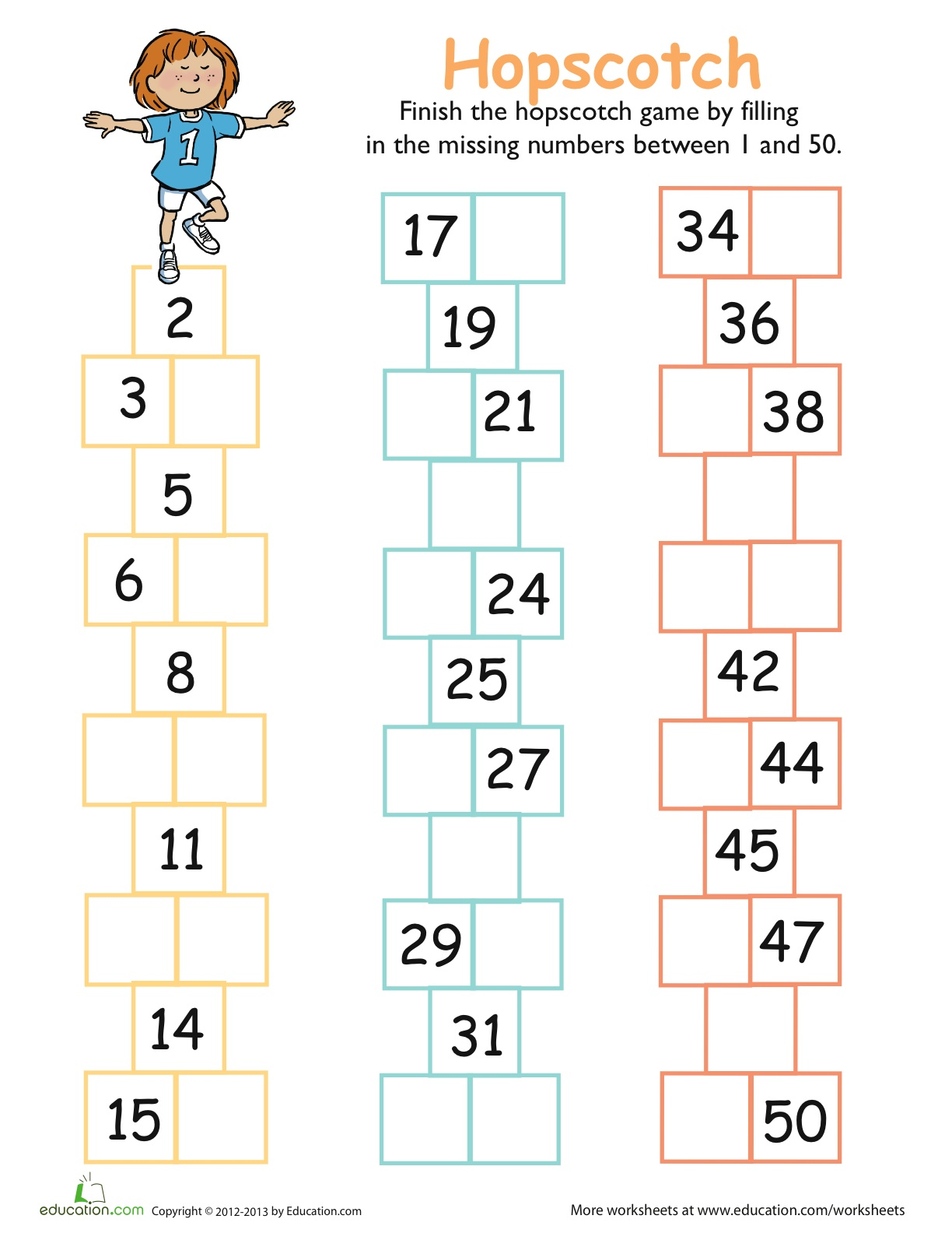 Luna And Lara Count To 50 Hopscotch Free Download