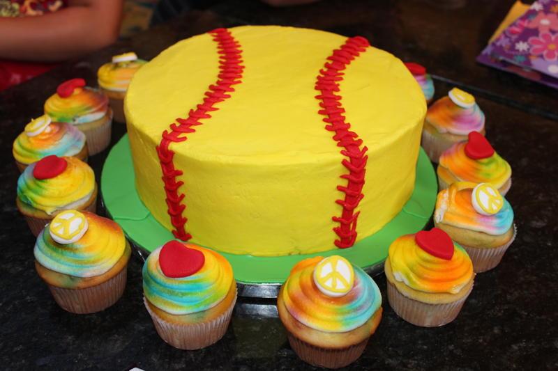 Bake Me A Cake Peace Love Softball