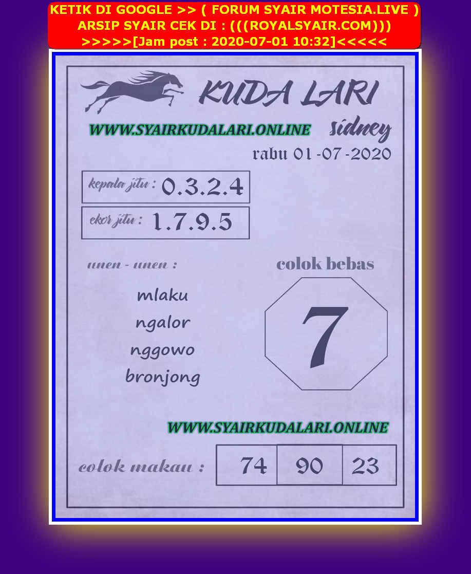 Kode syair Sydney Rabu 1 Juli 2020 69