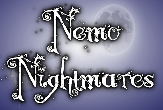 "NEMO NIGHTMARES Halloween font -""Pesadillas"""