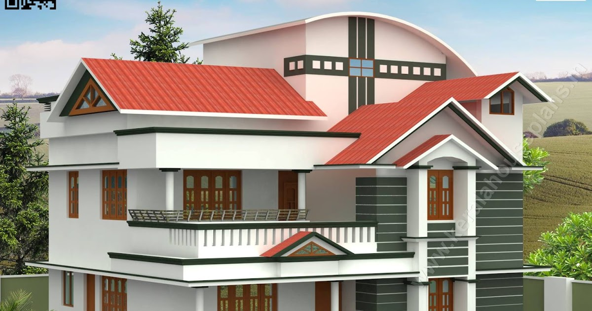 2484 sqft. Semi Colonial Style Home Elevation Design