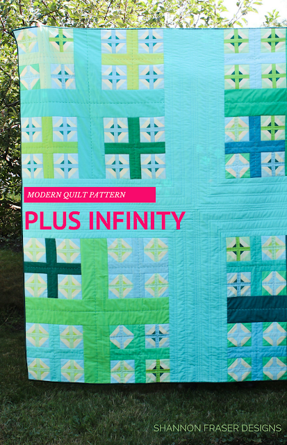 Plus Infinity Quilt | RJR Fabrics | Q1 2018 Finish-A-Long Quilt Projects | Shannon Fraser Designs | Modern Quilting | WIP | Quilt Patterns