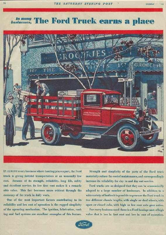 Ford Advertisements From 1930s Vintage Everyday