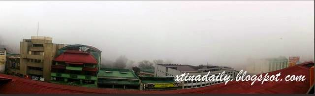 Foggy skyline of Baguio
