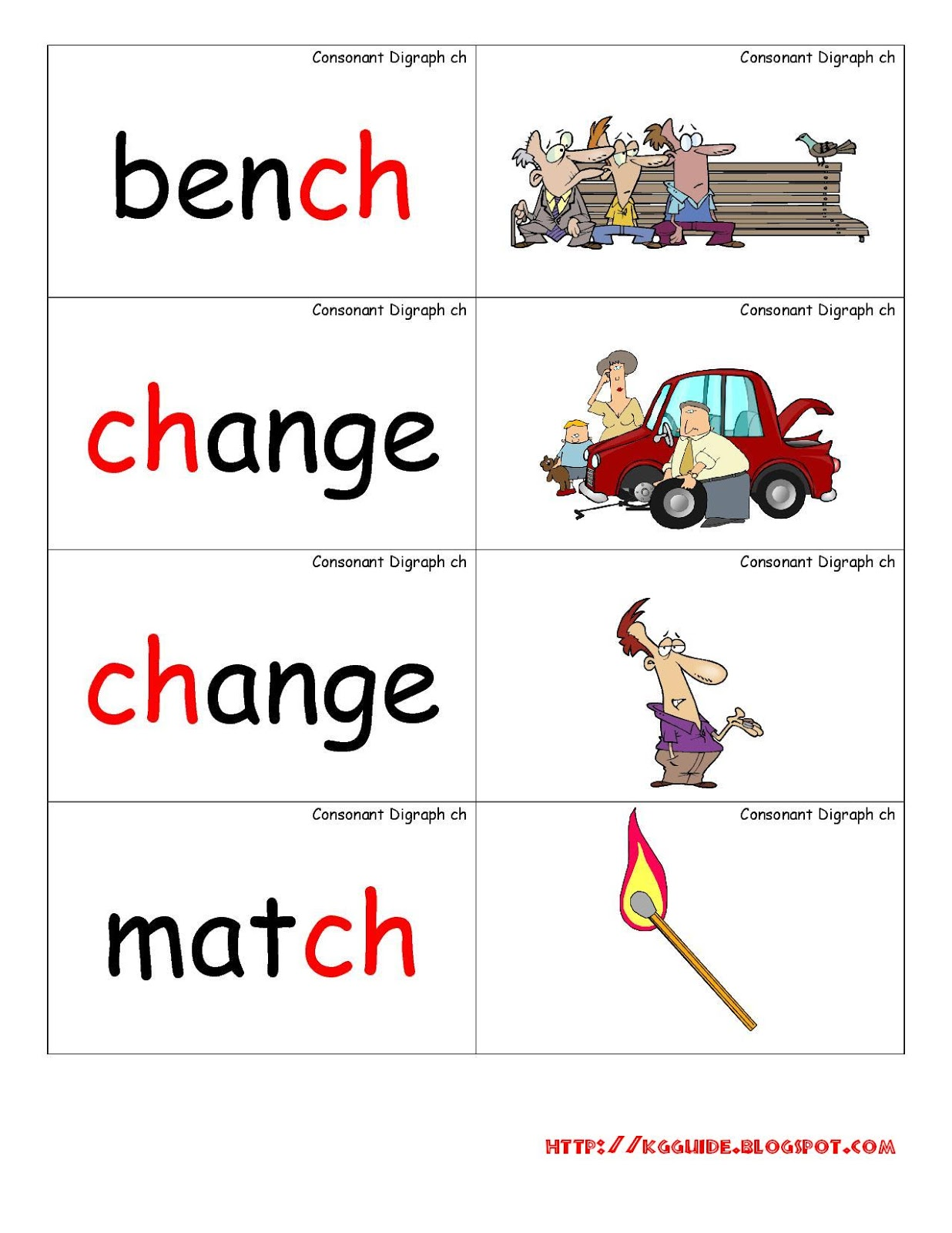Ch Words Worksheet For Kindergarten Students