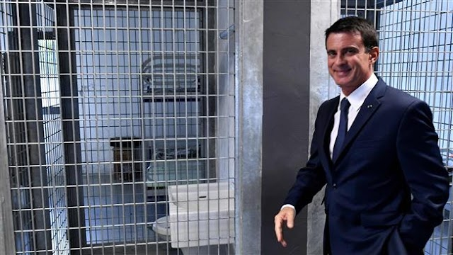 French Prime Minister Manuel Valls unveils plan to expand prison system