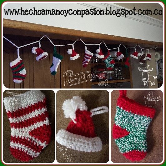 Guirnalda de navidad en crochet