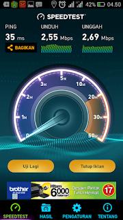 Kecepatan Internet Axis Tengah malam sampai subuh