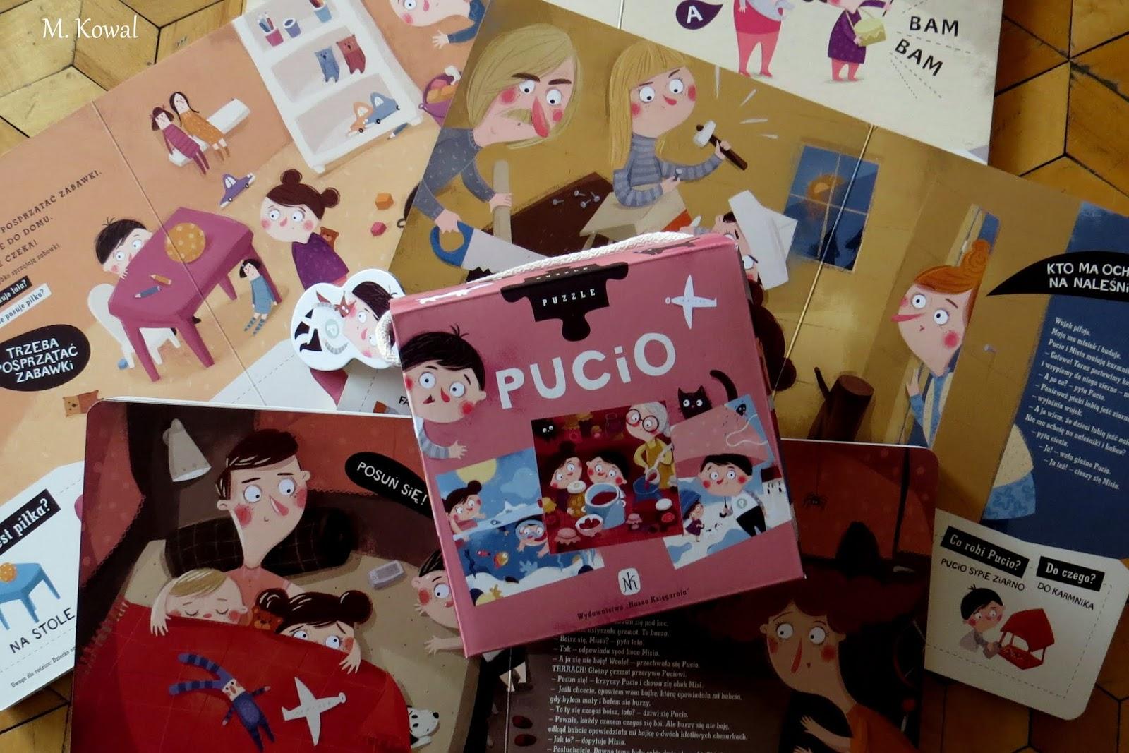"""Puzzle, które musicie mieć, czyli kilka słow na temat zestawu """"Pucio. Puzzle 3 w 1"""""""