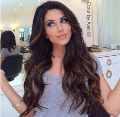 Highlights For Women With Dark Hair And Olive Skin