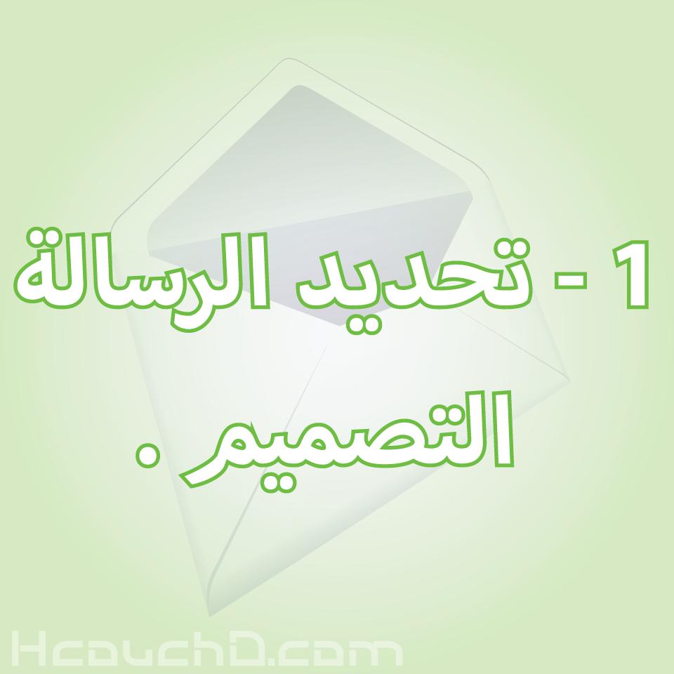 1 - تحديد الرسالة التصميم .