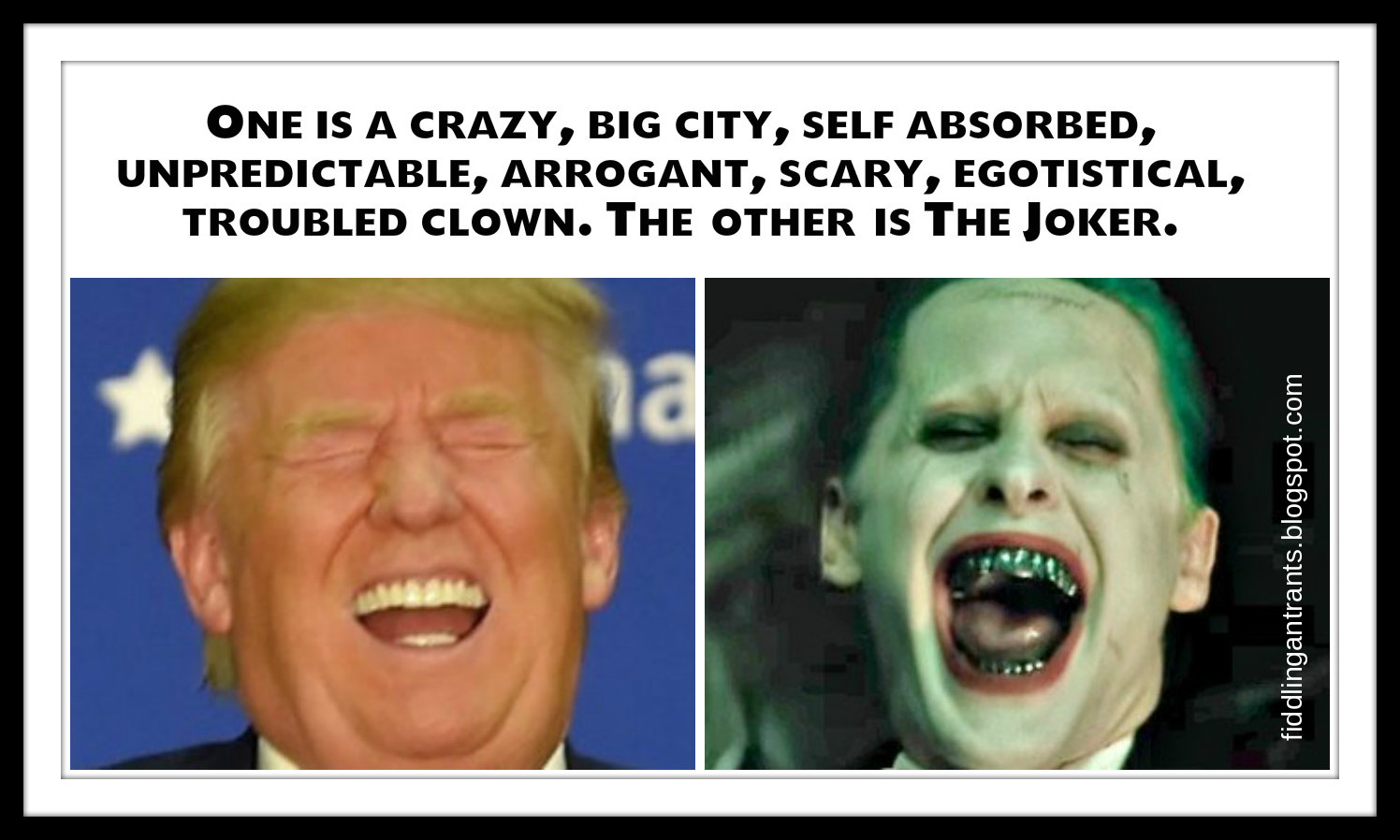 joker%2Btrump fiddling ant rants is the real party of lewdness winning?