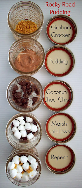 Rocky Road Pudding in a Jar Gift #KraftEssentials