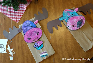 If You Give a Moose a Muffin Party | Moose Puppet by CustodiansofBeauty.blogspot.com