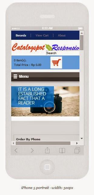 tampilan di iphone 5