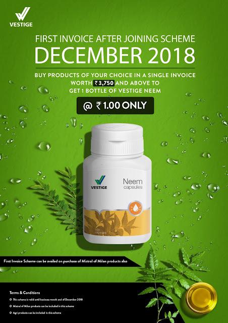 Vestige Re-Purchase Offer December 2018 for Distributors
