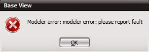 NX Modeler Error Please report Fault solution