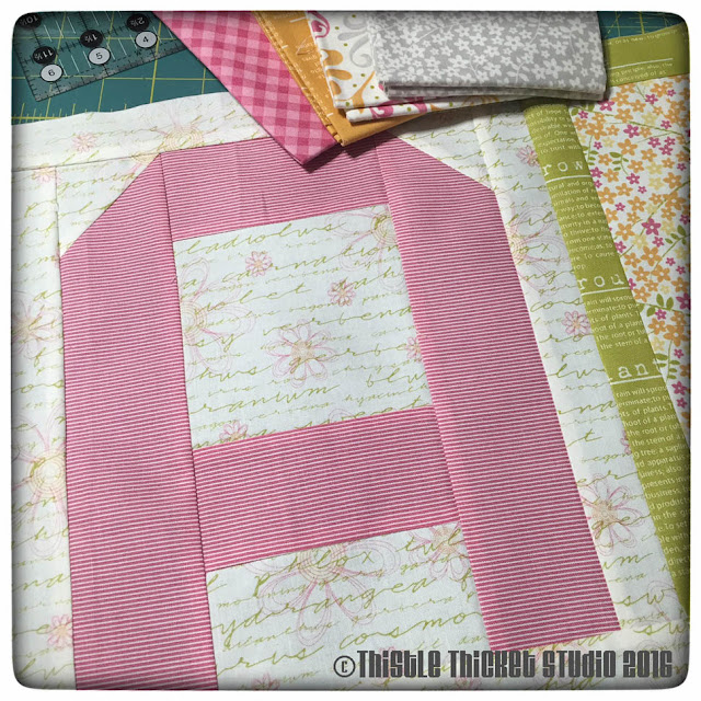Spell It With Moda Blocks & Sunkissed Fabric - Thistle Thicket Studio. www.thistlethicketstudio.com