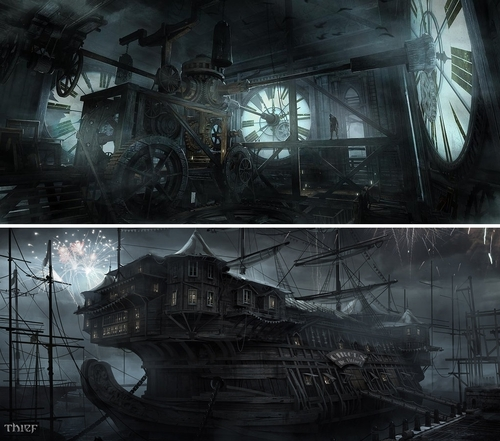 00-Mathieu-Latour-Duhaime-Concept-Art-for-Thief-Steampunk-feel-Video-Game-www-designstack-co