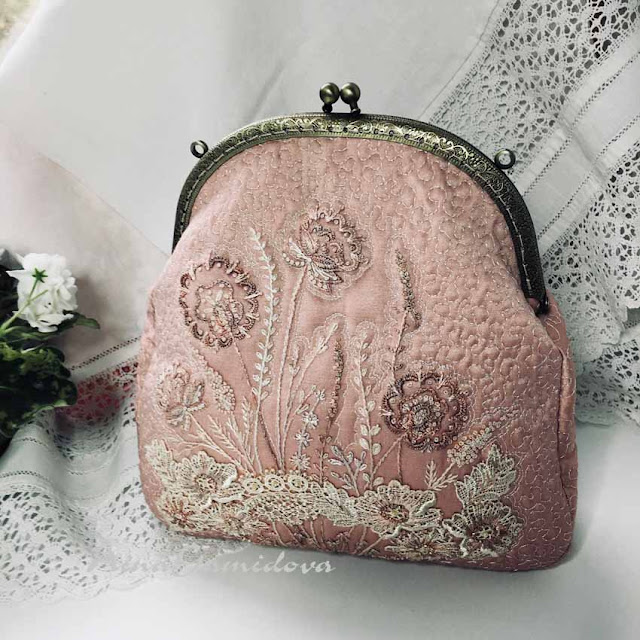 текстильная сумочка на фермуаре